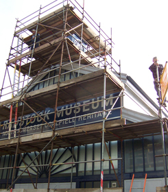 Scaffolding on a radstock museum